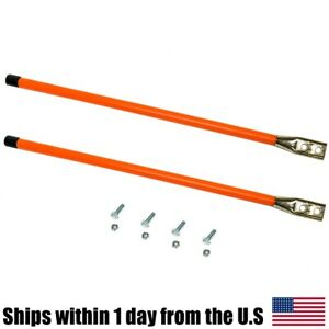 24 Set Of Orange Reflective Guide Markers For Western Snow Plows 62595