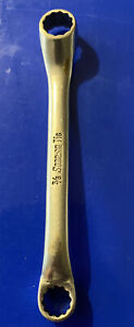 Vintage Snap On Tools Usa 3 8 X 7 16 Short 10 Chrome Offset Box Wrench Xs1214