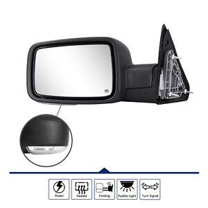 Driver Side Mirror For 2009 2012 Dodge Ram 1500 Led Signal Power Heated Foldable