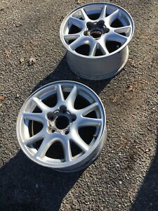 Matching Pair 16 X 8 Aluminum 10 Spoke Gm Wheels Oem 2000 2002 Camaro 1297523