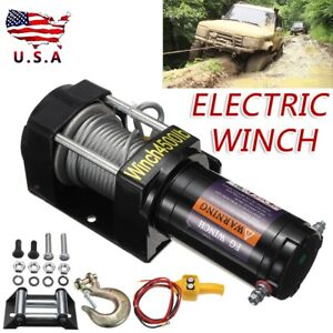 4500lbs 12v Electric Winch W Wireless Remote Control For Towing Truck Atv Ute