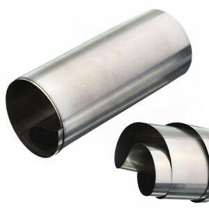 304 Silver Stainless Steel Fine Plate Sheet Hardware Foil Strip 0 1x100x1000mm