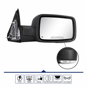 Right Side Mirror For 2009 2012 Dodge Ram 1500 Led Signal Power Heated Foldable