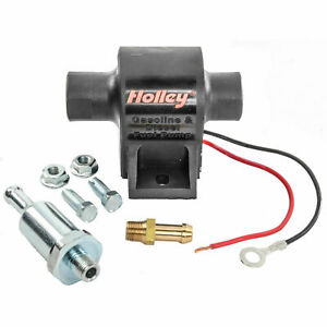 Holley Electric Fuel Pump 12 426 Mighty Mite Black Aluminum All Fuels 25gph