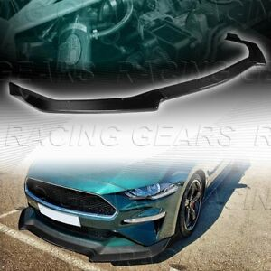 Gt Style Real Carbon Fiber Front Bumper Splitter Kit Lip Fit 18 20 Ford Mustang