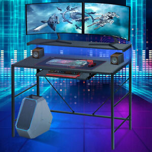 2 Layers 41 Led Gaming Desk Computer Table Gamer E sports Ergonomic Home Office