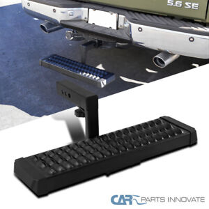 Black Rear Hitch Step Bar For Truck Suv 2 Hitch Receiver Protection W 6 Drop