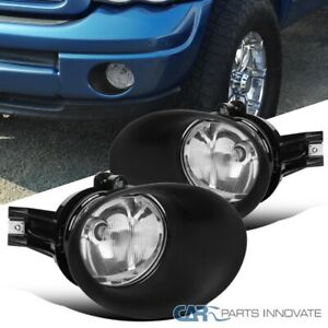 For 02 08 Dodge Ram 1500 2500 3500 Clear Front Bumper Driving Lamps Fog Lights