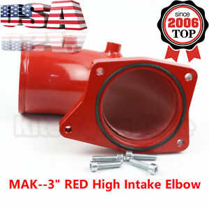 3 Red High Intake Elbow For Ford F250 F350 6 0l Powerstroke Diesel 2003 2007