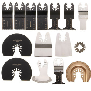 15pcs Saw Blades Kit Rockwell Sonicrafter Worx Oscillating Multitool Accessory