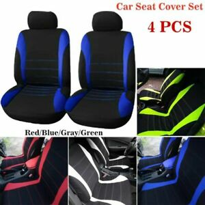 4pcs Car Seat Cover Set Front Integrated Bucket For Car Truck Suv Van Universal