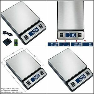 Digital Postal Scale Multi Measuring Units Usb Cable Up To 90lb For Home kitchen