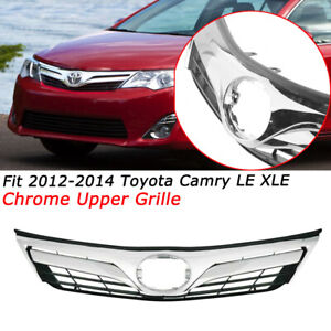 Fit Toyota Camry 2012 2013 2014 Le Xle Front Upper Chrome Grill Grille Mesh Type