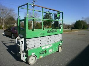 2012 Genie Gs 2632 Electric Scissor Lift Only 64 Hours