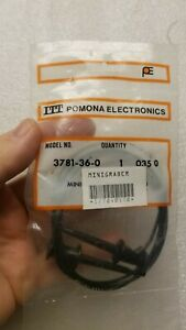 Two Pomona 3781 36 0 Mini Grabber Test Leads Black 2 Pieces Unopened