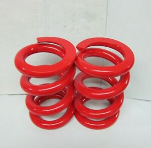 Lowrider Hydraulics 2 Ton Coil Springs Precut Flat Edges Red Glossy