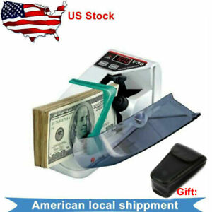 Portable Handy Bill Cash Money Count Machine Mini Banknote Currency Counter V30