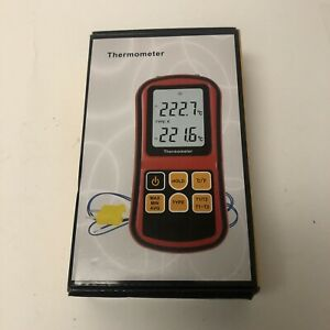 Leaton Digital Thermocouple Thermometer Dual channel Lcd Backlight Temperature M