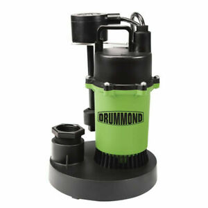 Pump Water 1 3 Hp Submersible Sump Pump With Vertical Float 3400 Gph