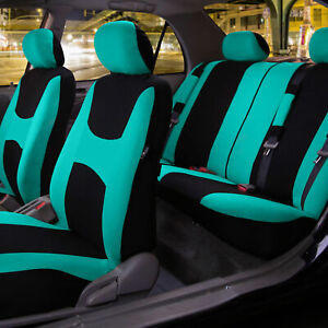 Car Seat Covers Mint Full Set For Auto W Steering Wheel Belt Pad 4head Rest