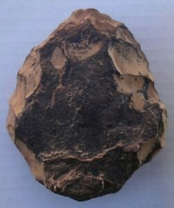 Stone Axe Hand Axe Prehistoric Tool Stone Age Museum Quality From Morocco
