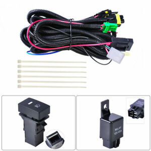 Fog Light Wiring Harness Sockets Wire Indicators Switch Kit H11 Led Light Relay