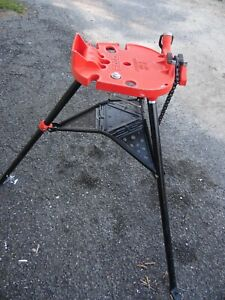 Ridgid Tristand 460 6 1 8 6 Portable Chain Vise Pipe Threading Stand Usa Made
