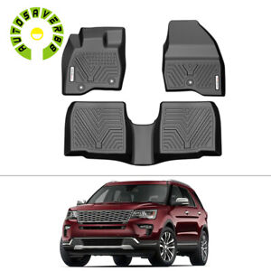 All Weather Floor Mats Liners Custom Fit For 2017 2019 Ford Explorer Rubber Kit