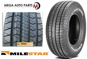 1 Milestar Streetsteel P275 60r15 107t White Letters All Season Muscle Car Tires