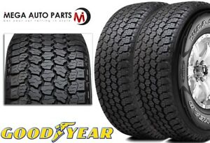 2 Goodyear Wrangler All Terrain Adventure With Kevlar 255 70r16 111t Owl Tires