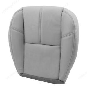 For Chevy Silverado 1500 2500 2007 2013 Driver Bottom Leather Seat Cover Gray Ct