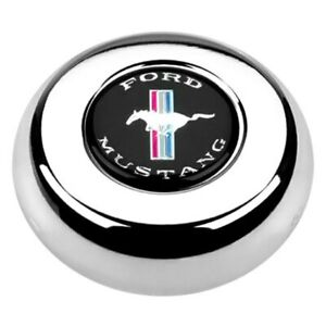 Grant Cast Classic Challenger Style Horn Button W Mustang Emblem