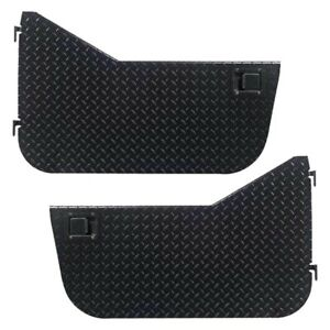 For Jeep Wrangler 97 06 Black Diamond Plate Half Doors W Rotary Style Paddle