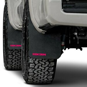 For Toyota Tacoma 2016 2020 Rek Gen T2006 Rally Edition Mud Flaps W Pink Logo