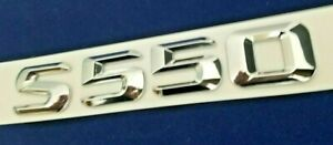 Chrome S550 Fit Mercedes Rear Trunk Emblem Badge Nameplate Decal Letter Numbers