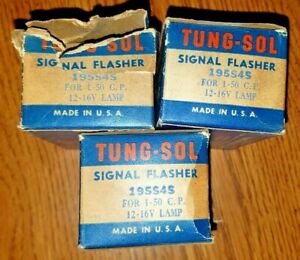 Vintage Nos Tung sol 195s4s Signal Flasher 12vdc 2 Wire
