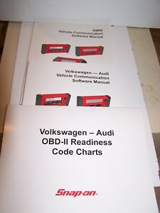 Snap On Vehicle Communication Software Manuals And Charts Bmw Vw Audi