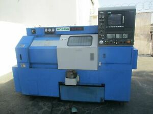 1996 Hyundai Model Hit 15 S Cnc Lathe With Collet Manuals And Tooling chuck