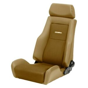 Cobra Seats C Lms v tn Le Mans Racing Seat Tan Vinyl