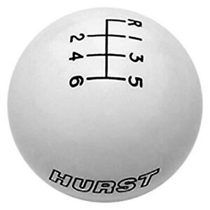For Ford Mustang 15 20 Hurst Shifters Manual 6 Speed Pattern White Shift Knob