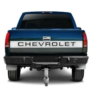 For Chevy C1500 88 98 Heavy Duty Series Full Width Textured Black Rear Hd Bumper