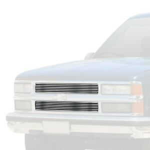 For Chevy Tahoe 95 99 Apg 2 pc Chrome Polished Horizontal Billet Main Grille