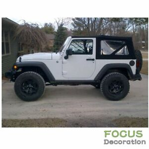 For 2007 2009 Jeep Wrangler 2 Door Replacement Soft Top Tinted Rear Windows