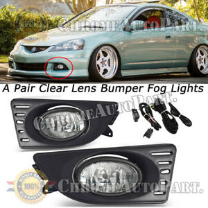 For 2005 2006 2007 Acura Rsx Pair Oe Factory Fit Fog Light Bumper Kit Clear Lens