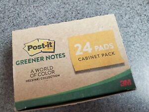 3m Post it Greener Notes Helsinki Collection 24 Pads 1 3 8 X 1 7 8