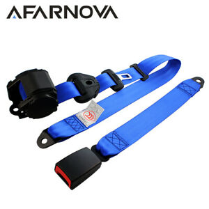 Fits Jp 1pc Blue 3 Point Fixed Auto Car Harness Safety Seat Belt Car Universal