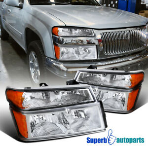 For 2004 2012 Chevy Colorado Gmc Canyon Headlights Corner Bumper Lamps