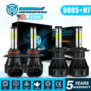 4 Sides 9005 H7 Combo Led Headlights For Mazda 3 2004 2005 2006 2007 2008 2009