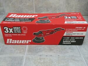 Bauer 20mm 6 In 7 5 Amp Dual Action Random Orbit Polisher Buffer Variable Speed
