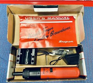 Works 1989 New In Box Snap On Et1010 Electric cordless Screwdriver
